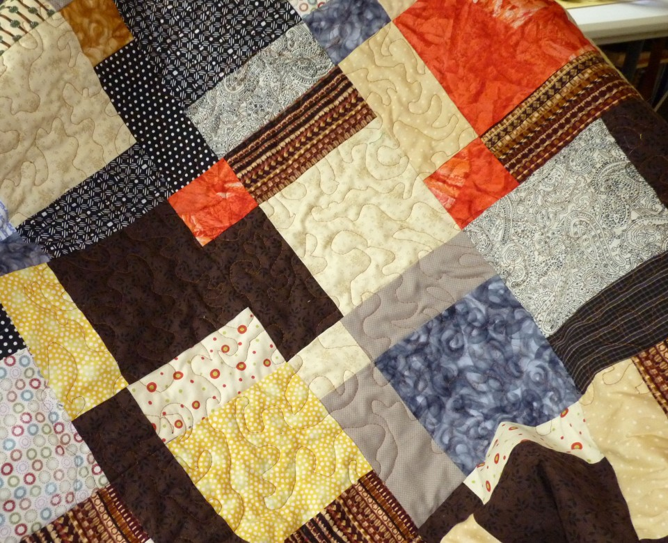 quilt blocks with some stitching
