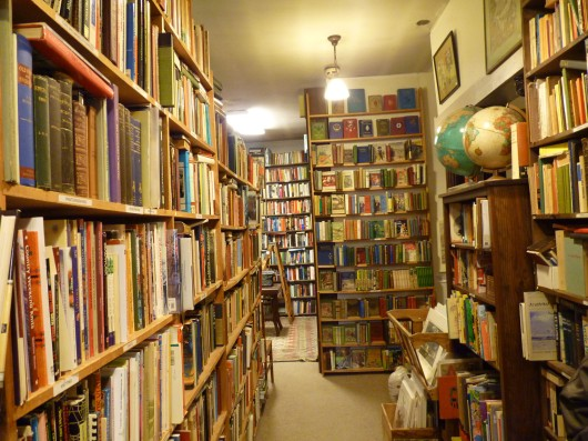 book store shelves