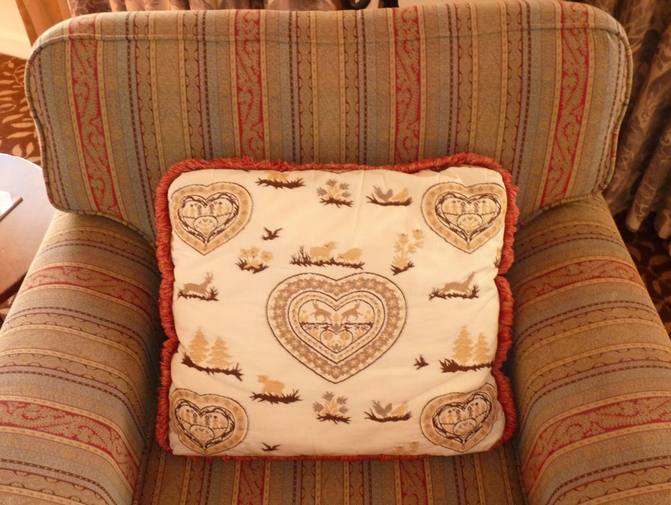 chair and pillow