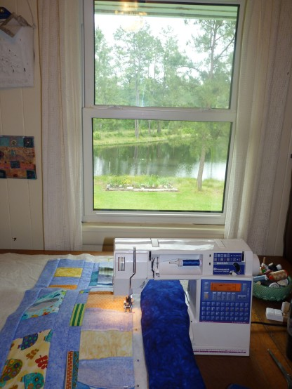 sewing room and rain