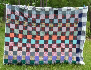 polyester squares quilt