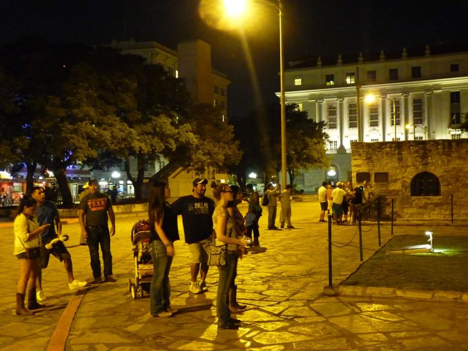 people on plaza