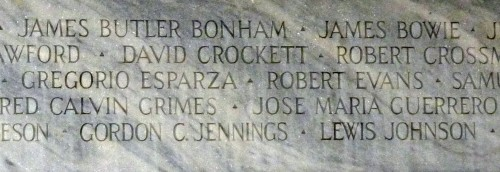 names on monument