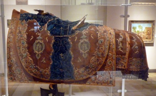embroidered saddle