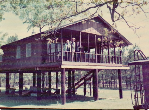 In 1975, the happy crew poses on the newly finished house.