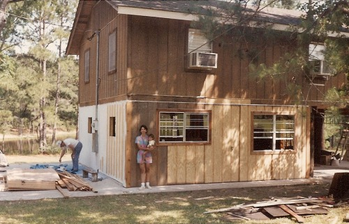 In 1988, the downstairs was partially built in, and my fashion sense was questionable.