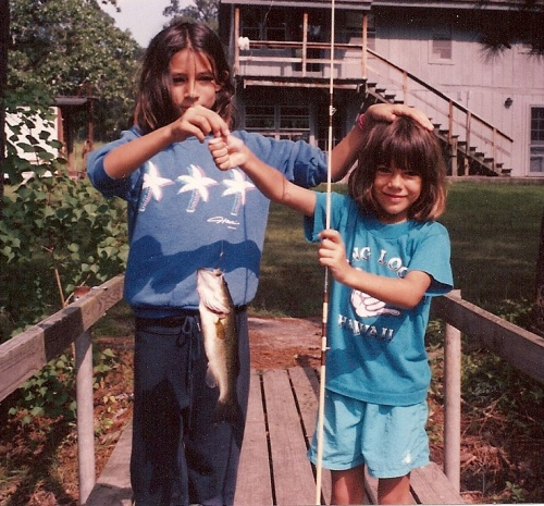 Our girls with their catch in '91.