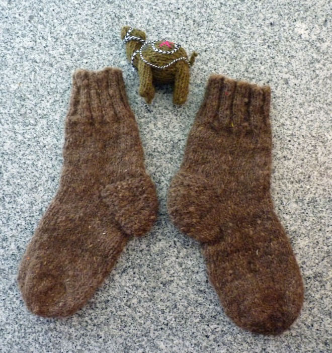 hand-knit socks from Turkmenistan