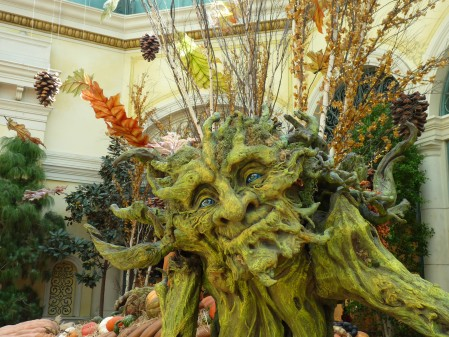 Green Man sculpture