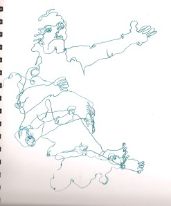 Blind contour drawing.
