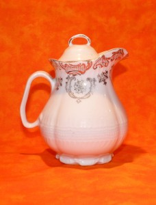 For this sample, my object is the white cream pitcher, the background is the bright orange fabric.