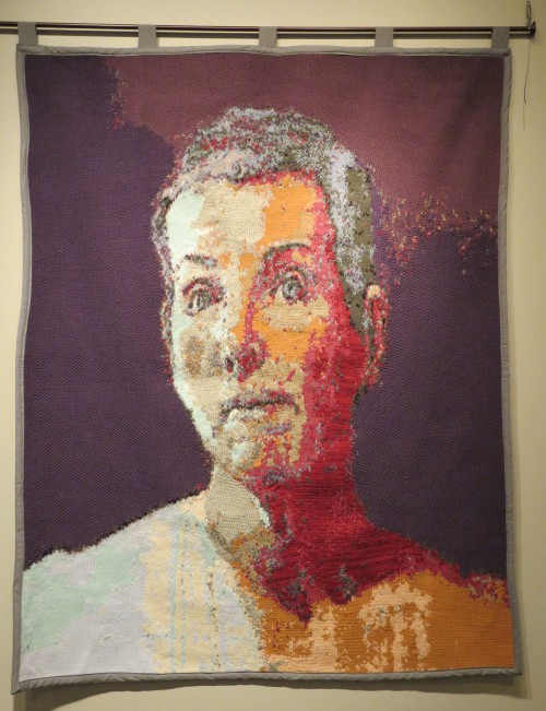 Knitted Self Portrait by Debra Goertz.