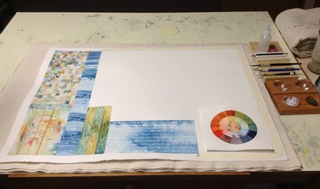 """Just a """"practice page"""" by Jacqueline Davis at Driftless Page.  Used by permission."""