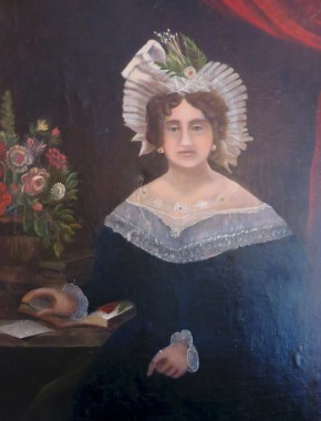 Portrait of Mary Marshall, from the Marshall House in Savannah, GA.