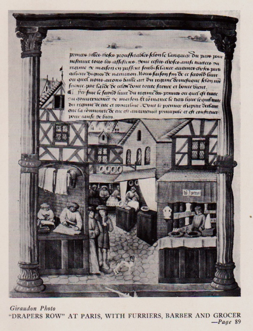 Drapers' Row, an illustration from The Romance of French Weaving