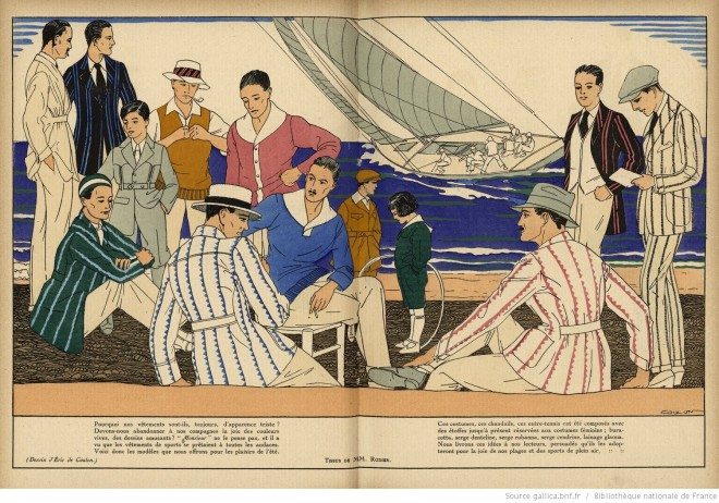 Casual menswear from Monsieur magazine, 1920.