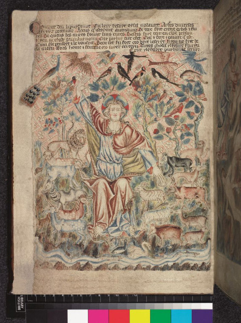 Creation from the Holkham Bible Picture Book at the British Library