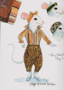 From Stuart Little, 1999. Costume designed by Joseph Porro and illustrated by Robin Richesson.