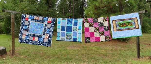 Donation quilts, summer 2015.