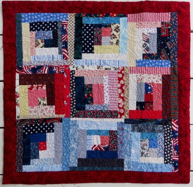 Another set of scraps find their quilt destiny.