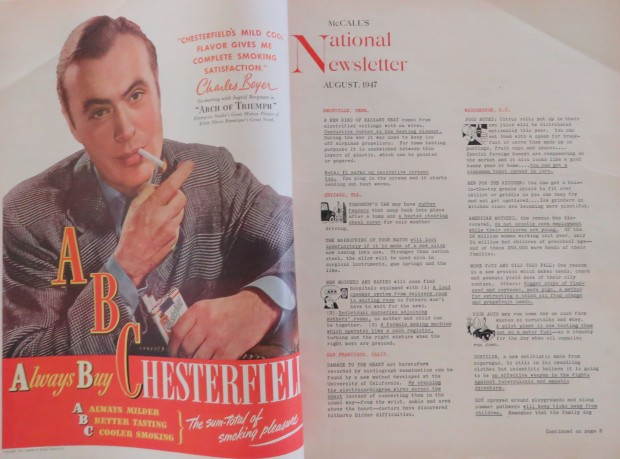 1947 page, complete with a smoking Charles Boyer.