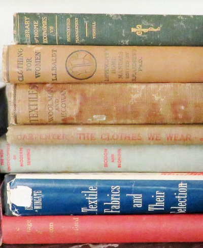 A close-up of some of the titles.