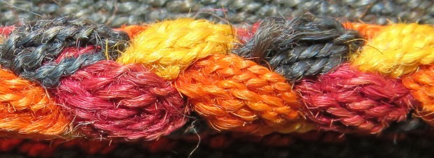 Braid close-up, showing the plied yarn.