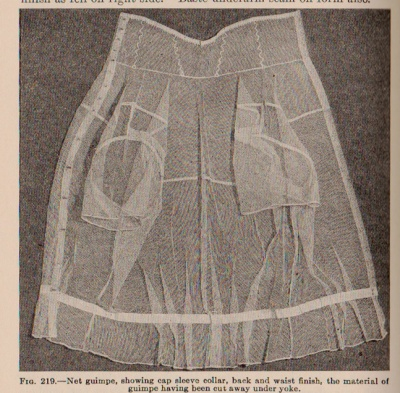"""This """"guimpe"""" was to be worn under silk or wool dresses."""