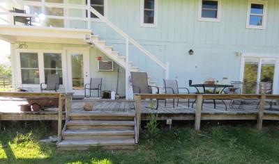 Old deck needs replacing.