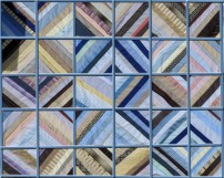#3 - Grid Sashing. Sashing forms rectangles to complement the diamonds.