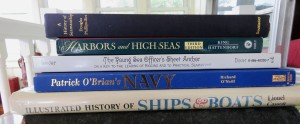 Stack of ship books.