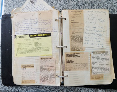 Recipe notebook.
