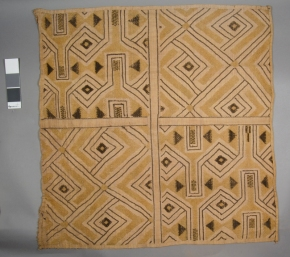 Raffia weaving from the Penn Museum, Number AF1518.