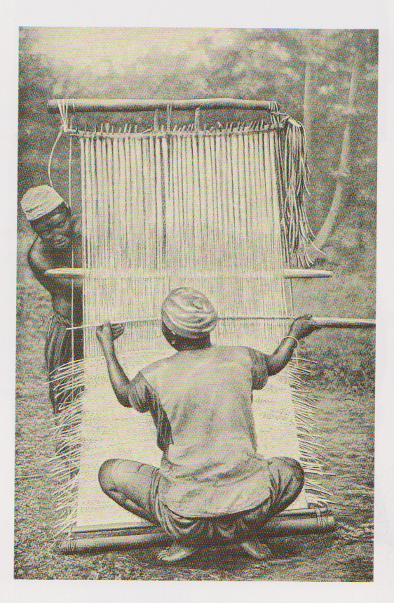 Raffia loom from Cameroon.