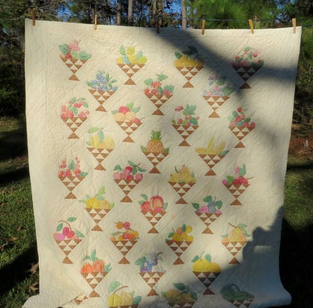Fruit Basket quilt, designer Ruby McKim.