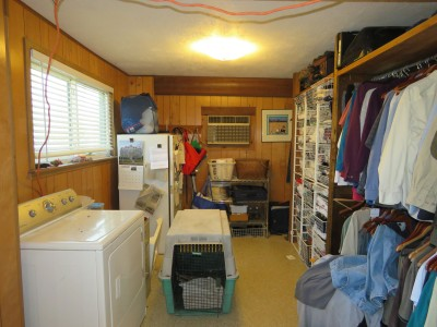 Before, looking from the kitchen into the closet room.