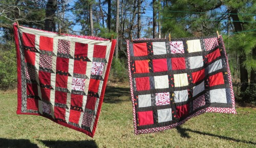 Two lap quilts for the VA hospital.