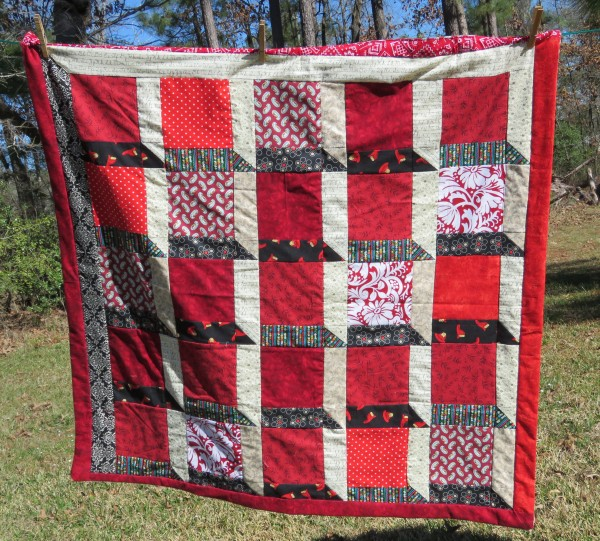 Attic Windows lap quilt.