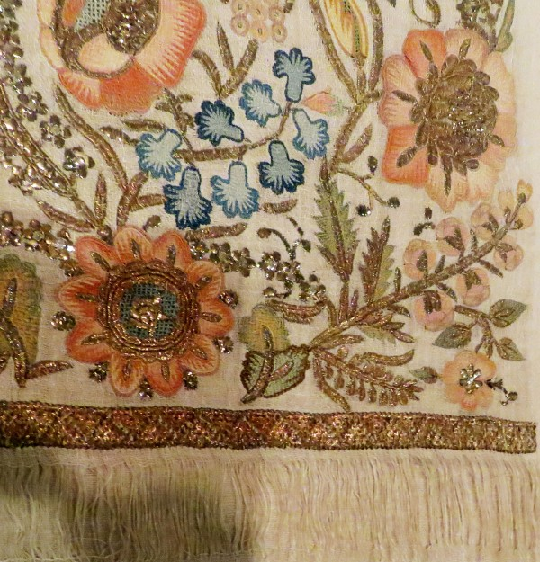 The richness of greek embroidery deep in heart