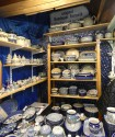 I bought a lot of souvenirs from this booth -- pottery made in Poland.