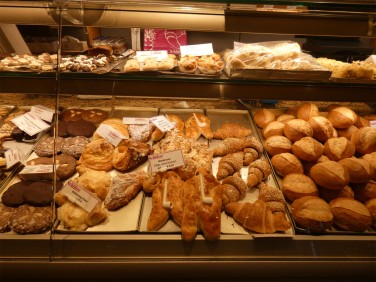 Delicious fresh breads at Schluter Konditorei.