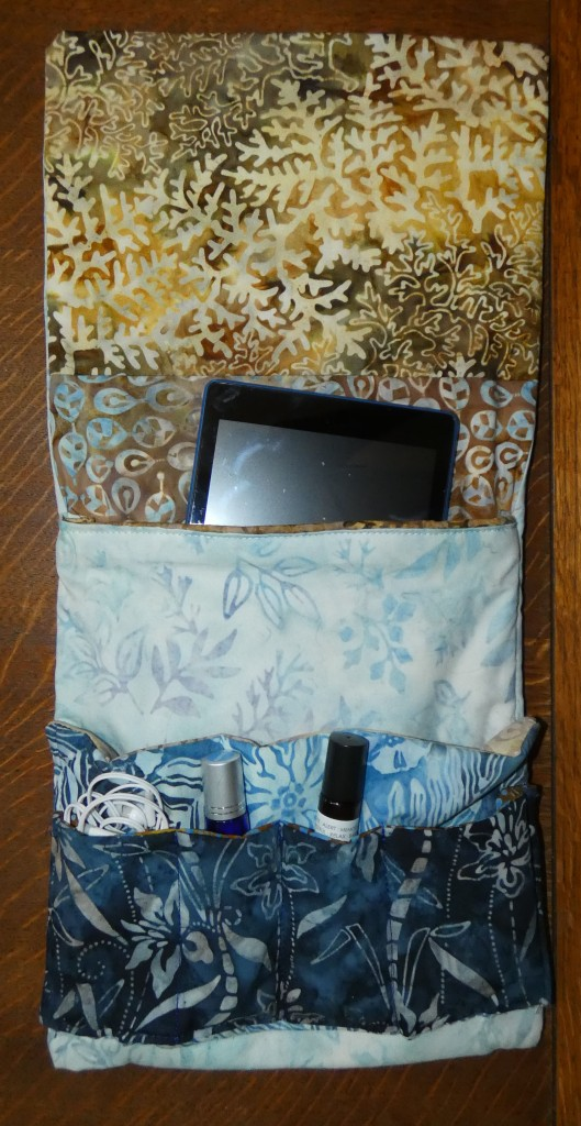 pocket organizer for bedside essentials