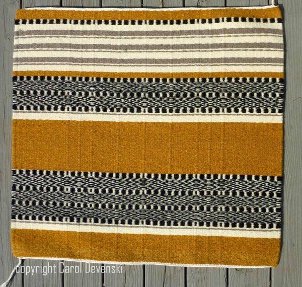 handwoven saddle blanket