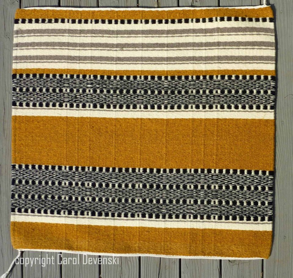 handwoven saddle blanket