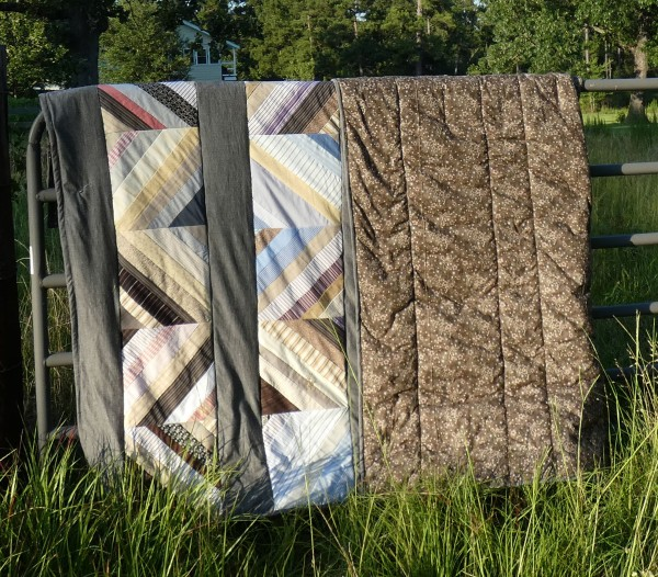 quilt with back folded over