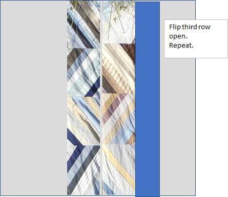 diagram of quilt rows