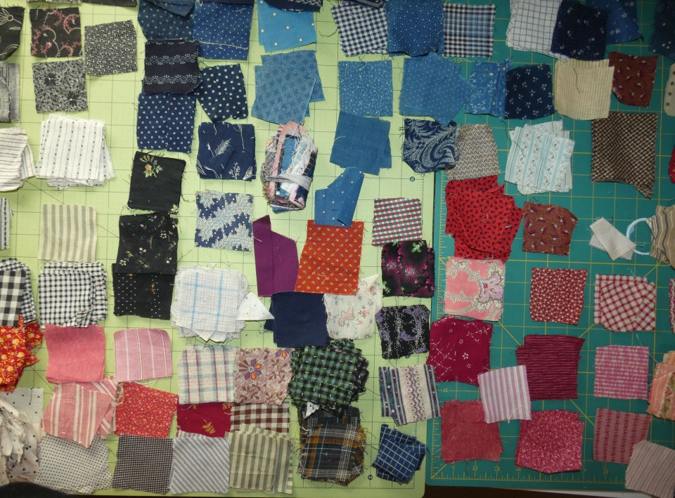 fabric samples from late 1800s