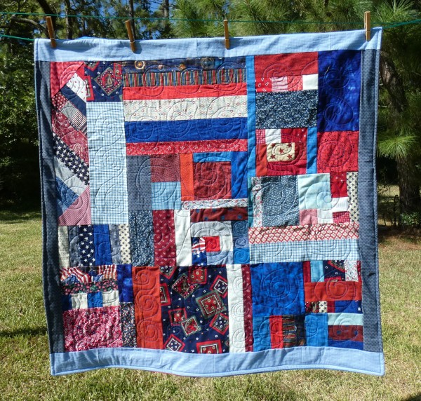Scrap lap quilt for the VA hospital.