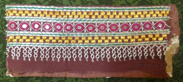 banjara embroidery with metallic threads and mirrors