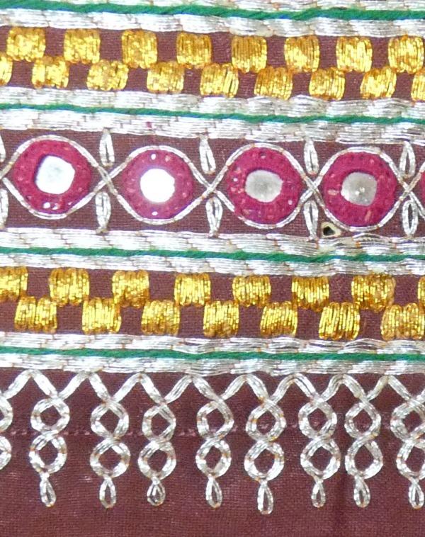 banjara textile with metallic thread